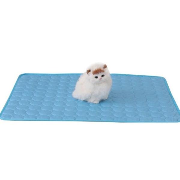 hund kylmatta sommar pad matta hundar katt andningsfilt katt jag Light blue