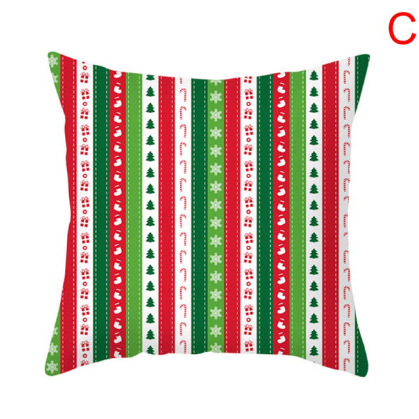 New Xmas Christmas Funny Pillow Cases Cotton Santa Claus Cushion E