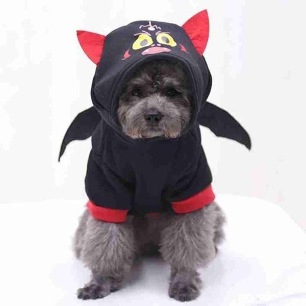 Pet Dog Cat Winter Clothes Halloween Pumpkin Hoodie Dog Warm Clo C/M