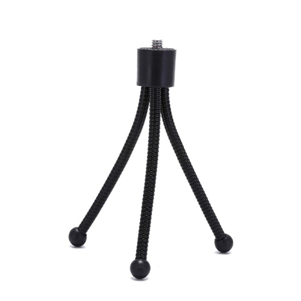 portable monocular camera telescope mini tripod 1/4 standard int black