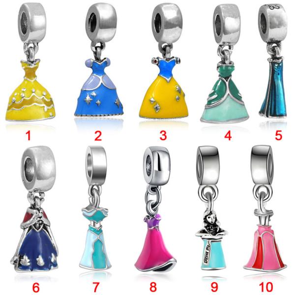Prinsessaklänningpärlor Silverpläterade stora hålsmycken DIY-smycken