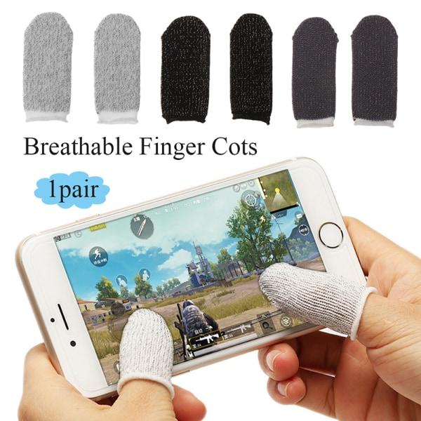 PUBG Mobile Finger Stall Sensitive Game Controller Sweatproof B Black