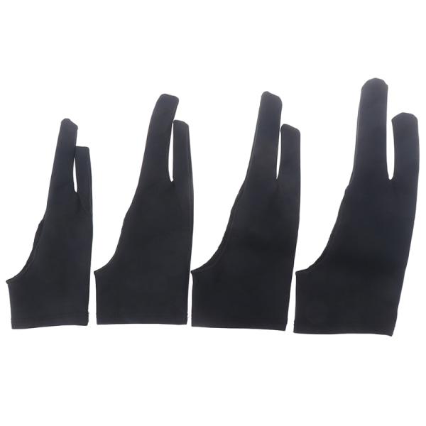 Tvåfingers konstnär Anti-touch-handske för ritbricka Höger an