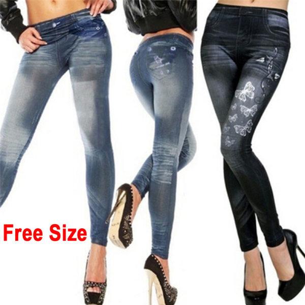 Women''''s Fashion New Sexy Skinny Leggings Jeans Jeggings Stre Blue Free Size