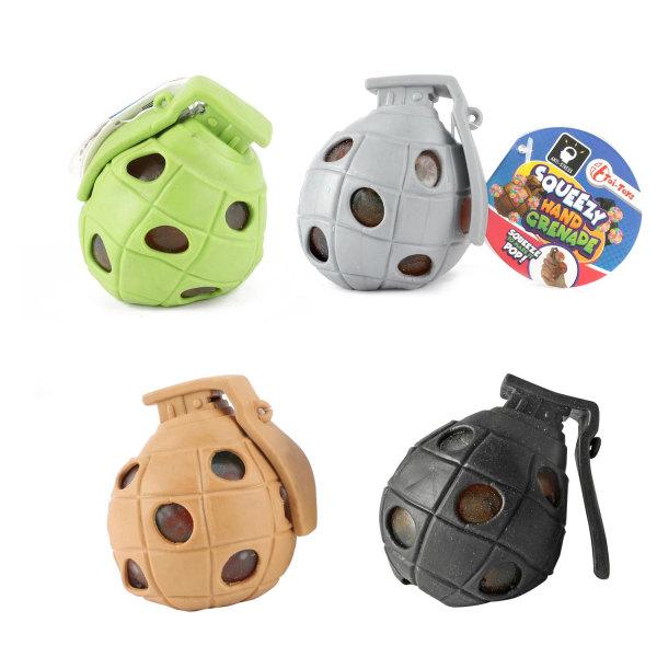2-Pack Squeezy Handgranat Klämboll Stressboll Antistress Boll  multifärg