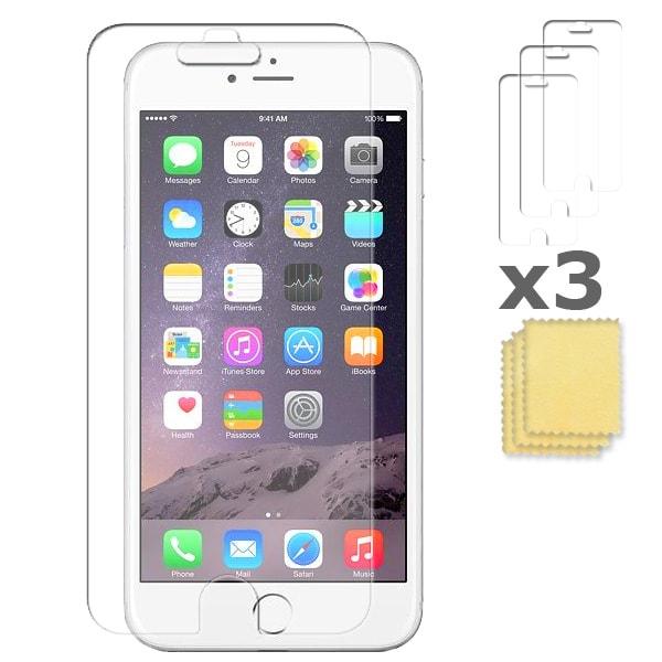 3-Pack iPhone 6S/7/8/SE 2020 Skärmskydd  Transparent Transparent
