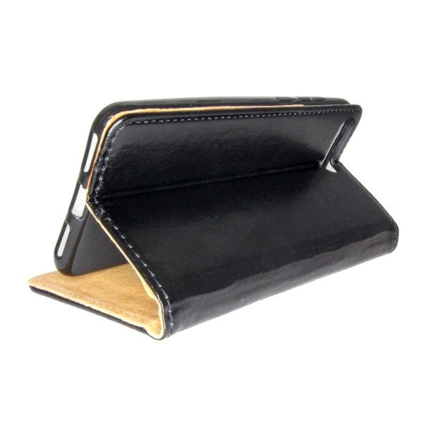 Äkta Läder Book Slim Huawei Mate 20 Pro Plånboksfodral Svart Svart