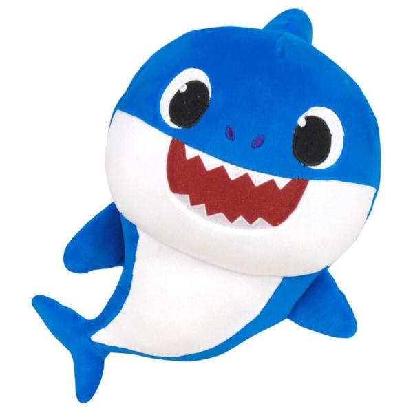 Baby Shark Blå Gosedjur Med Ljud Mjukisdjur Plysch Blue 28cm  Rosa