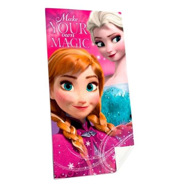 Disney Frost Frozen Elsa & Anna Handduk Badlakan 140x70cm multifärg