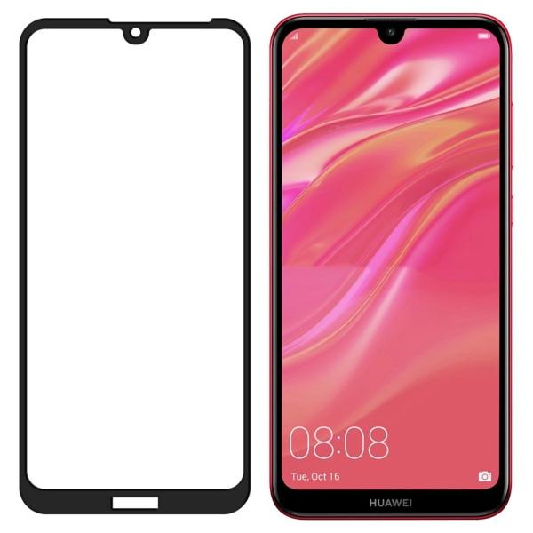 Heltäckande Härdat Glas Huawei Y6 2019 Skärmskydd Svart Svart