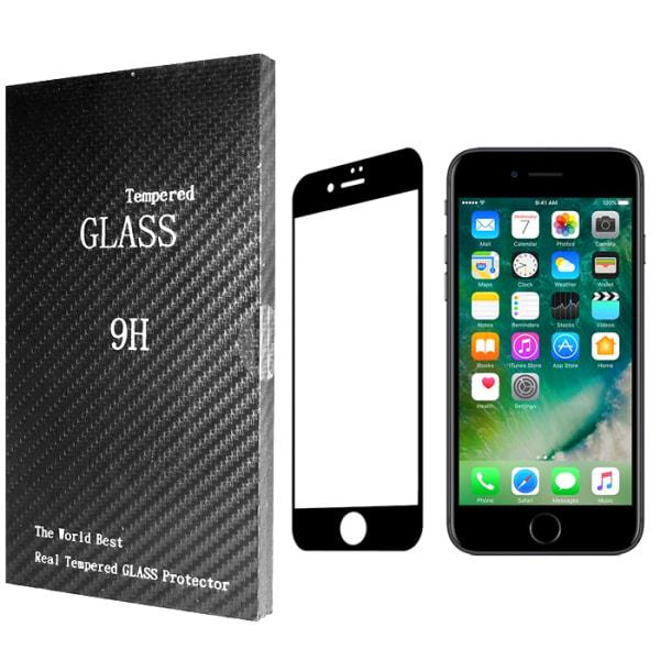 Heltäckande Härdat Glas iPhone 8 Plus Skärmskydd Retail Svart