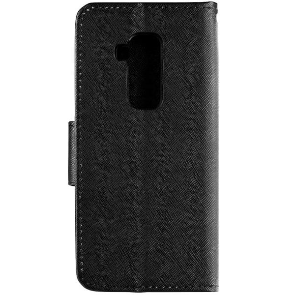 Huawei Mate 20 Lite Plånboksfodral Fancy Case + Handlovsrem Svar Svart