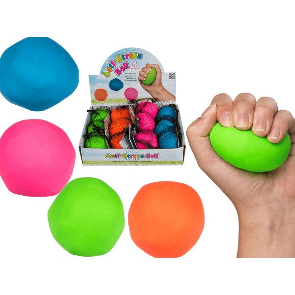 2-Pack Formbar Stressboll Antistress Boll Squeeze Neon Färger Kl multifärg