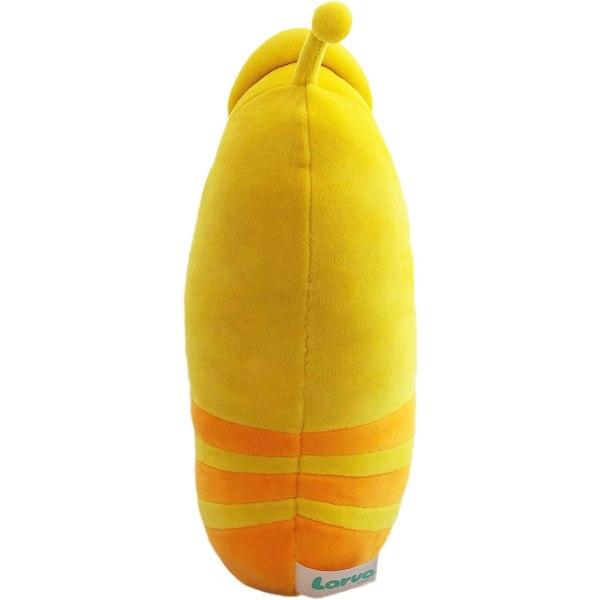 LARVA Gul Gosedjur Med Ljud Mjukisdjur Plysch Yellow 30cm  Gul