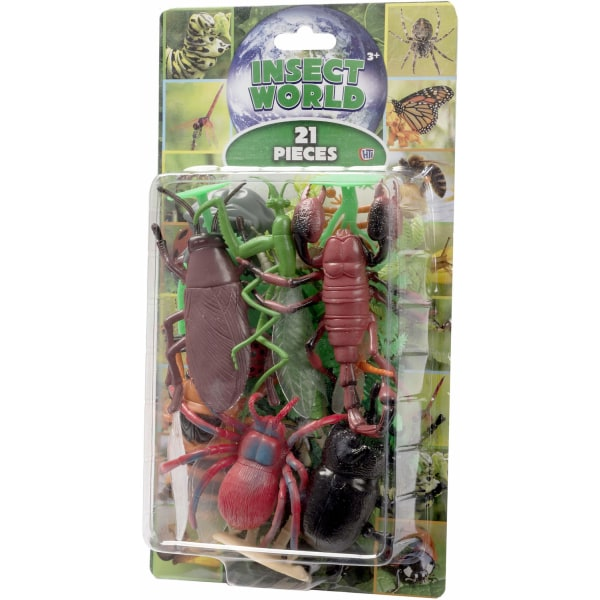 Natural World 21st Insect Playset Insekter 5-15cm Figurer Lekset multifärg