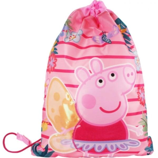 Peppa Pig Greta Gris Gympapåse Barnväska 40x31cm Rosa Pink