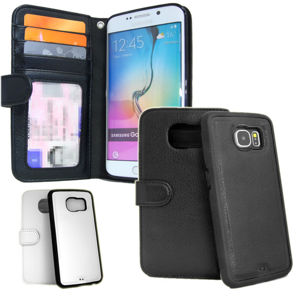 Plånboksfodral Galaxy S6 Edge PLUS Med Avtagbart Skal Svart