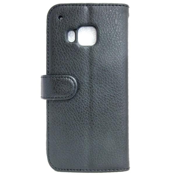 Plånboksfodral HTC ONE M9 Med ID/Foto ficka 4st kort Svart