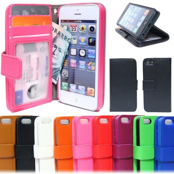 Plånboksfodral iPhone 5C Med ID/Foto ficka 3st kort Vit
