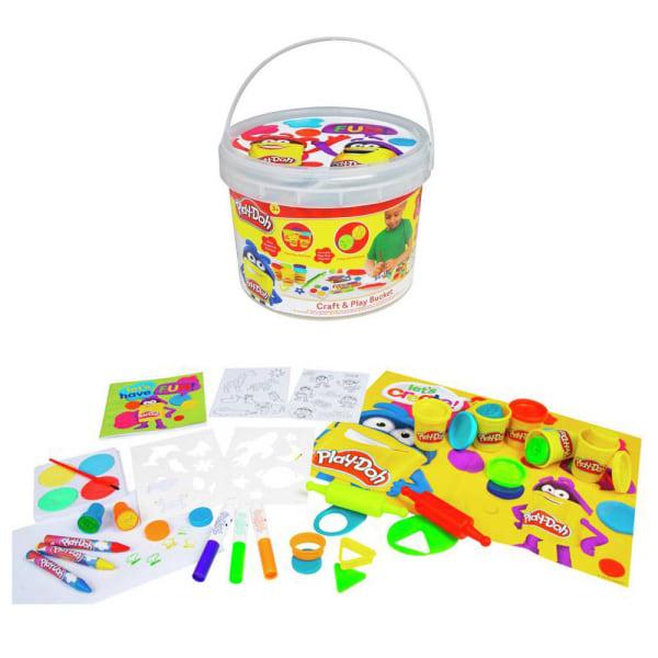 Play-Doh Craft & Play Bucket Pyssellburk Leklera Lekset multifärg
