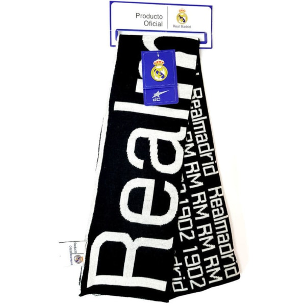 Real Madrid Halsduk Scarf Double Fan 140x18cm Svart one size
