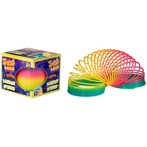 Slinky Spiral Trappfjäder Regnbåge Magic Rainbow Spring MultiColor