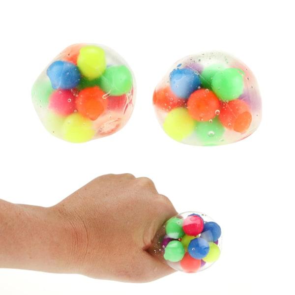 Squeezy Klämboll Stressboll Antistress Boll 1st 6cm multifärg