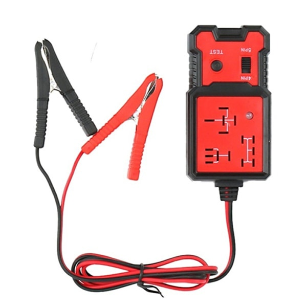 12V Universal Electronic Automotive Relay Tester For Cars Auto  Red