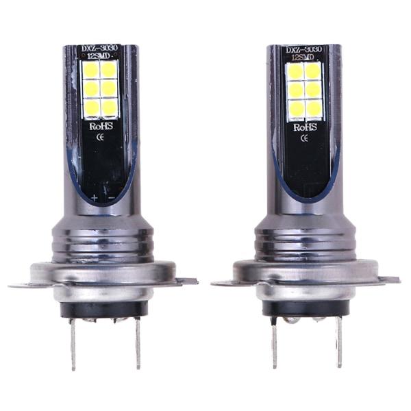 2 H7 LED headlights fog light kit 50W 14000LM car bulb 6000K onesize
