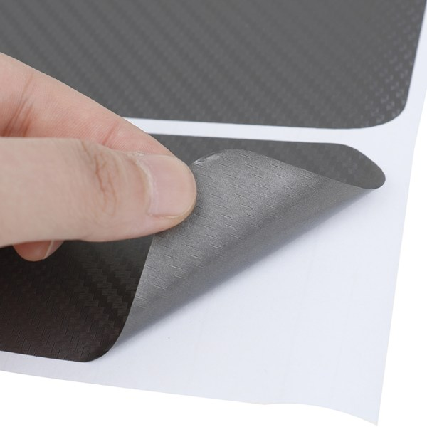 4Pcs Gray color car door sill scuff welcome pedal protect carbon One Size