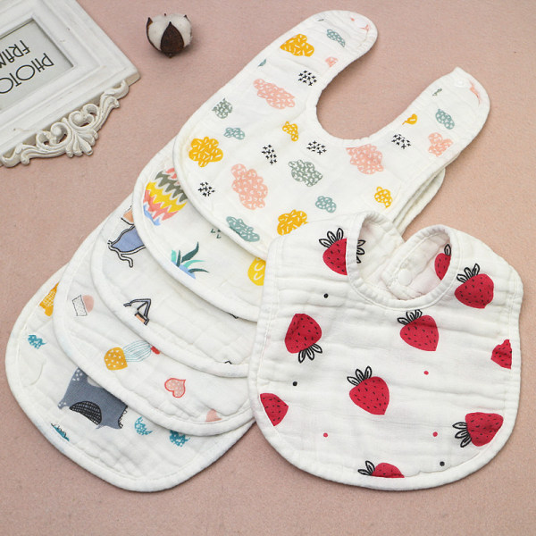 8 layers Baby Boy Girl Newborn Kids Bibs Saliva Towel Bib Feedi B