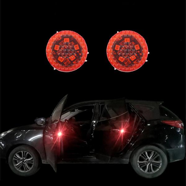 Car Door Opening Warning Lights Wireless Strobe Flashing Decorat Multicolor