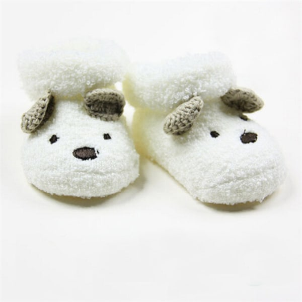Cute Newborn Baby Boy Girls Socks Unisex Infant Cute Bear Crib  White