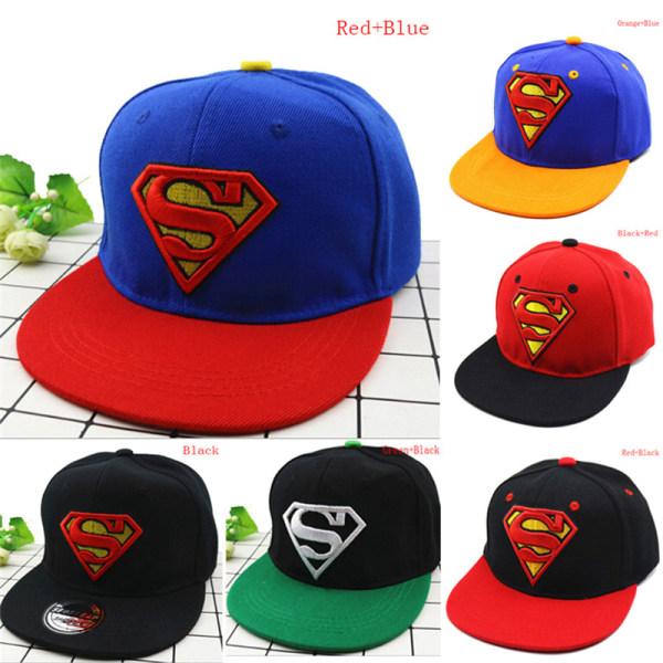 Fashion Kids Girls Boys Superman Snapback Baseball Cap Children Red+Blue