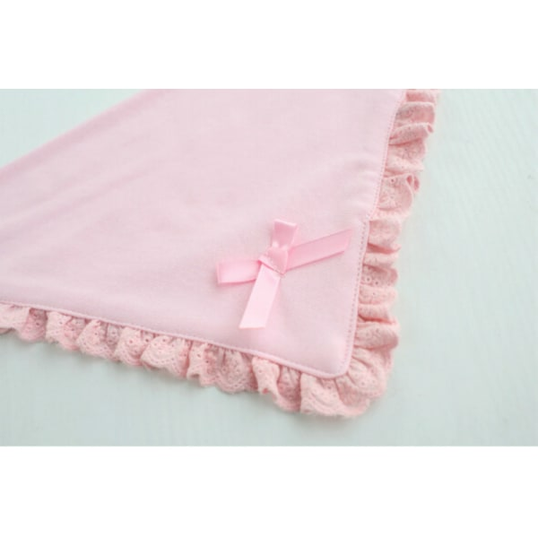 Fashion Newborn Toddler Cotton Baby Bibs Boy Girl Saliva Towel  Triangle pink