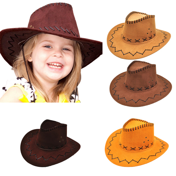 Halloween Western Cowgirl Cowboy Hat For Kid Boys Gilrs Party Costumes R UWPTH