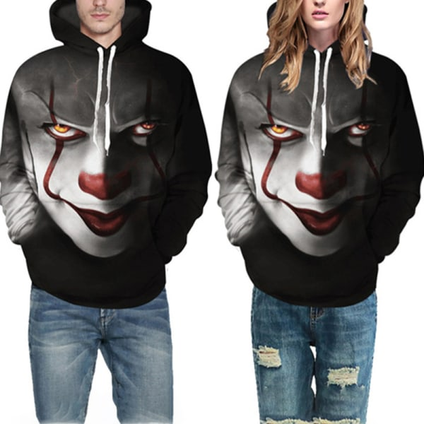 Movie Stephen King IT The Clown Pennywise Hoodies Halloween Cos Black S