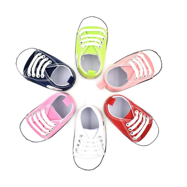 Toddler Baby Boy Girl 20 colors Portable Soft Sole Crib Shoes I N11 Red
