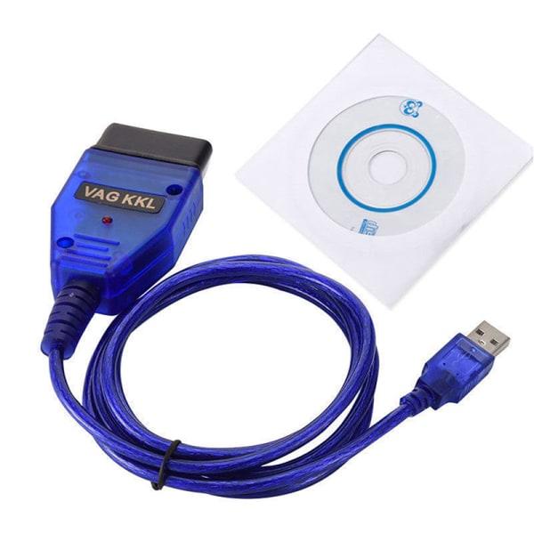 USB Cable KKL VAG-COM 409.1 OBD2 OBD Diagnostic Scanner VCDS VW/ Blue