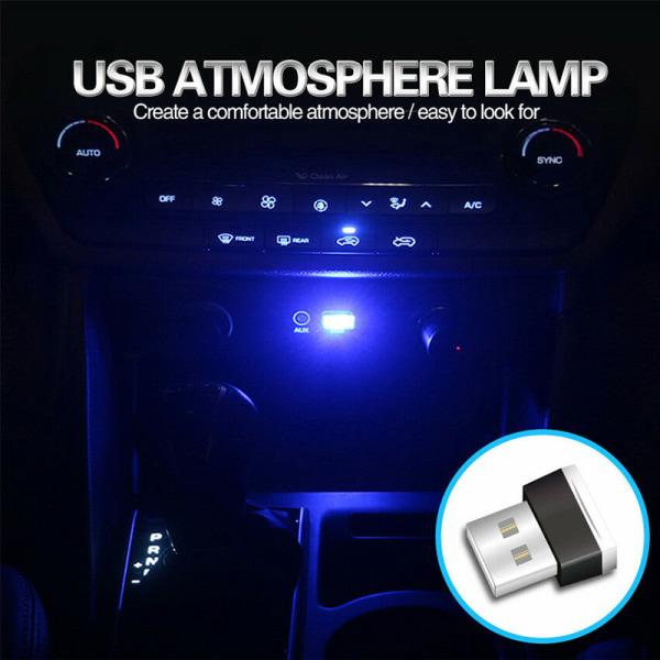 USB LED Mini Car Interior Light Strip Flexible Neon Atmosphere  White