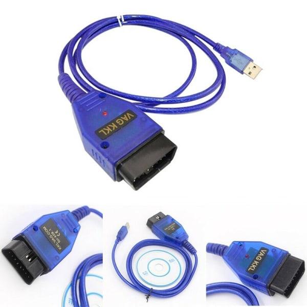 VAG409 OBDII KKL409.1 COM USB Diagnostic Scanner Interface CH340 Blue