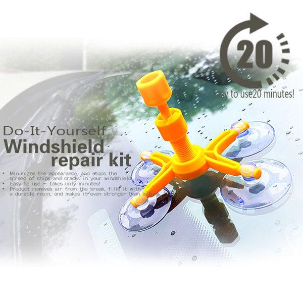 Windscreen Windshield Repair Tool Set DIY Car Wind Glass Chip Cr Onesize