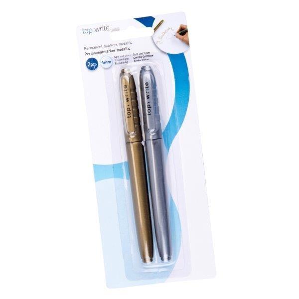 Metallic pennor - Guld / Silver