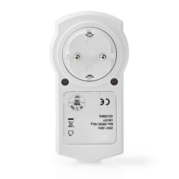 Nedis Smart RF-kontakt På/Av RF Mesh Schuko typ F 3680 W
