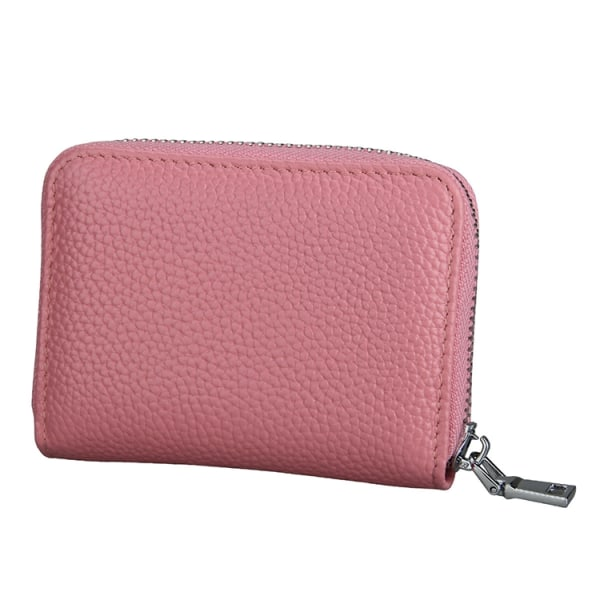Rosa Plånbok dragkedja RFID