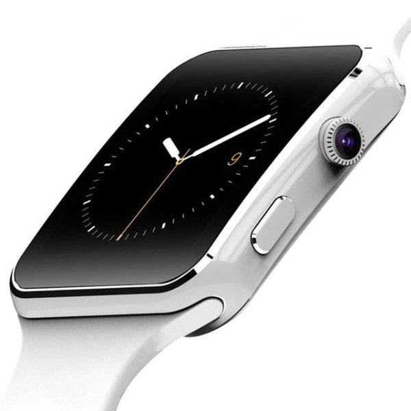 Smartwatch med Kamera Touch Screen Bluetooth iPhone / Android - Vit
