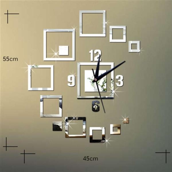 Väggdekor 3D klocka - Guld