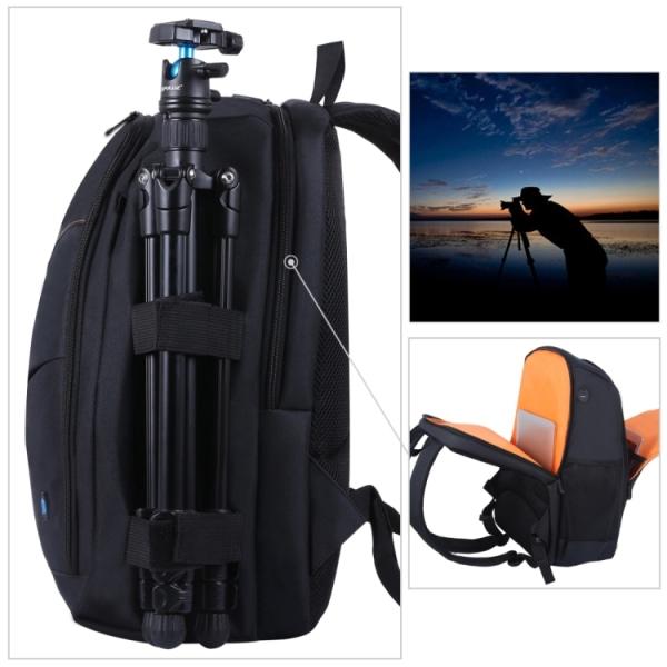 Vattentät och stötsäker kameraryggsäck