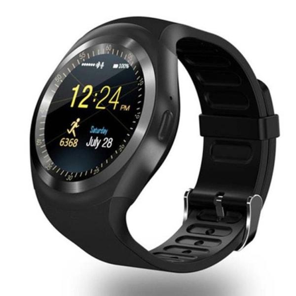 Y1 Smartwatch med Sim Svart