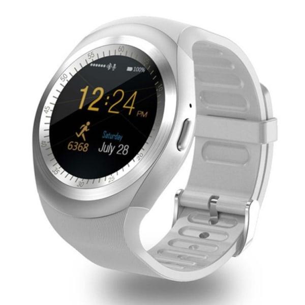 Y1 Smartwatch med Sim Vit